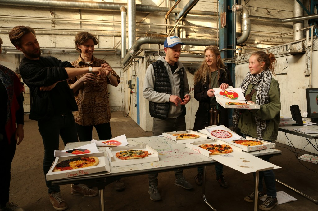 Friday's Pizza Eating Party
