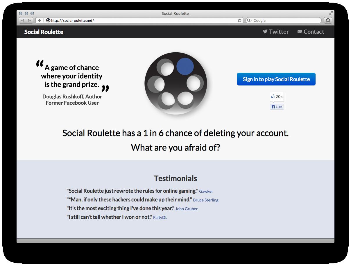 Jonas Lund Social Roulette