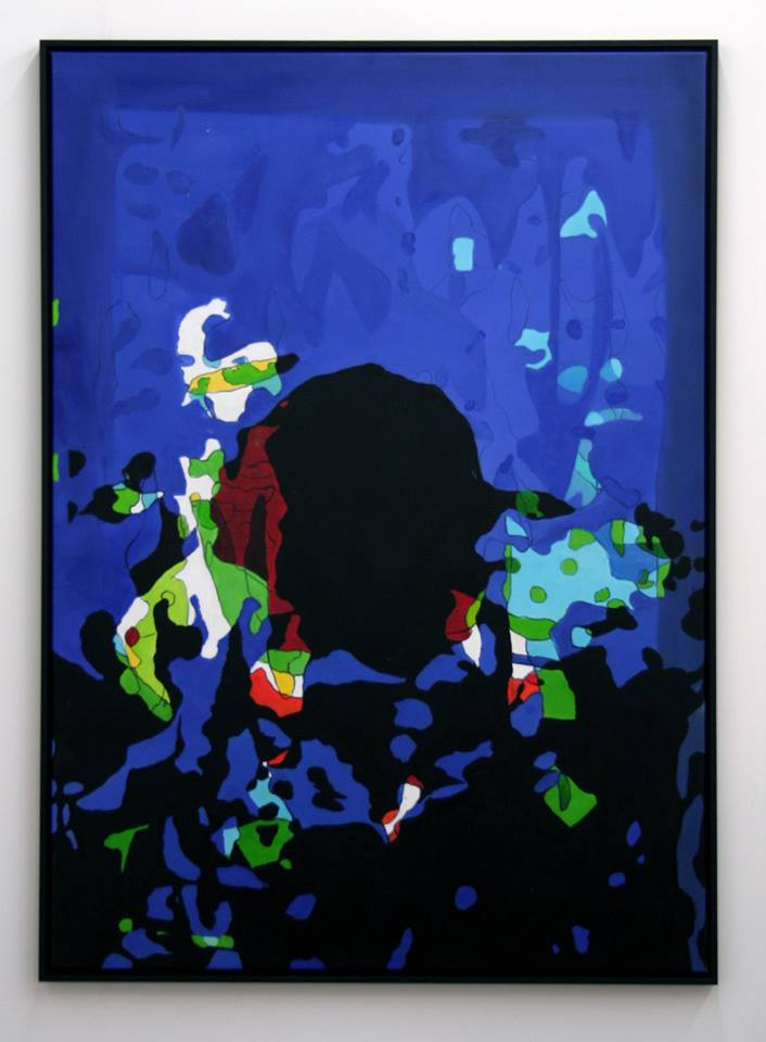 Under The Influence #1, oil on canvas and frame 100x140cm